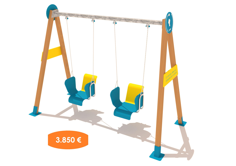 Columpio adaptado ni os con discapacidad parapupas for Columpios infantiles