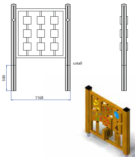 plano panel de números