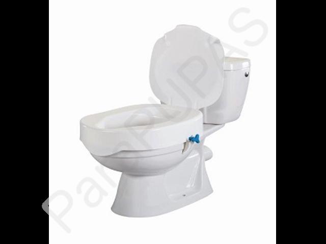 Elevador de wc de 10cm con tapa for Adaptadores wc personas mayores