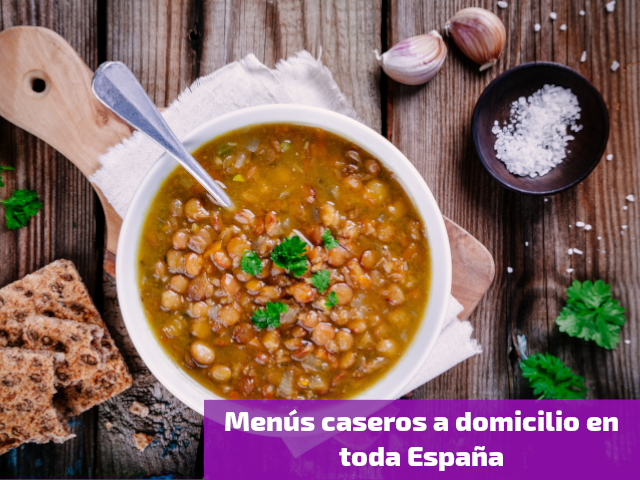 Menús caseros a domicilio en toda España